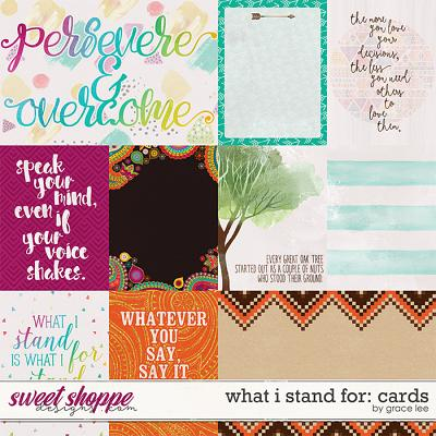 What I Stand For: Cards by Grace Lee