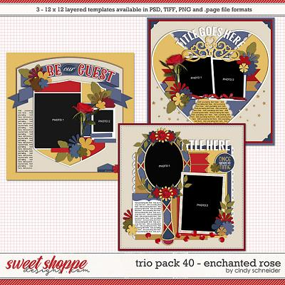 Cindy's Layered Templates - Trio Pack 40: Enchanted Rose by Cindy Schneider
