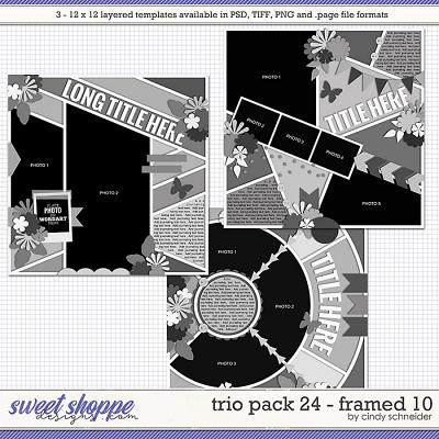 Cindy's Layered Templates - Trio Pack 24: Framed 10 by Cindy Schneider