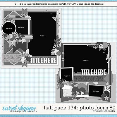 Cindy's Layered Templates - Half Pack 174: Photo Focus 80 by Cindy Schneider