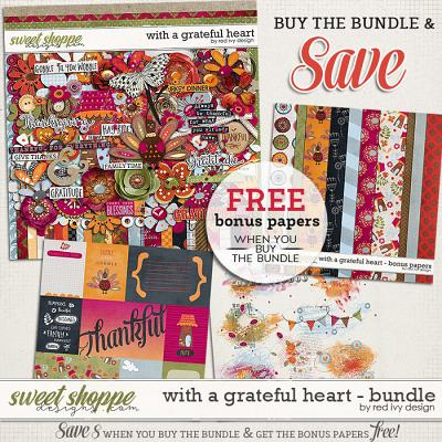 With A Grateful Heart - Bundle by Red Ivy Design