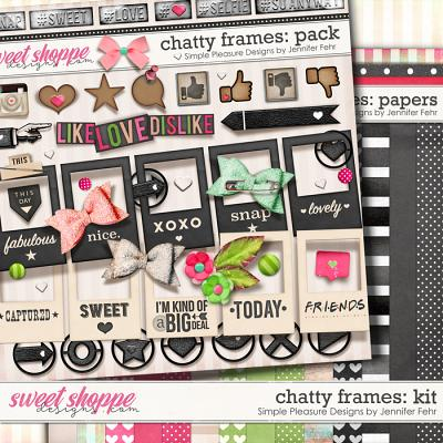 chatty frames kit: Simple Pleasure Designs by Jennifer Fehr
