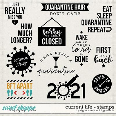 Current Life | Stamps by Digital Scrapbook Ingredients