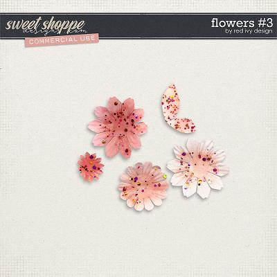 CU Flowers #3 by Red Ivy Design
