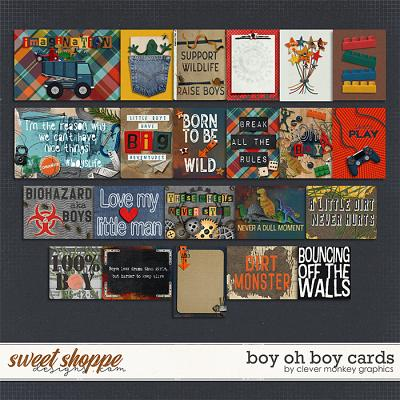 Boy oh Boy Cards by Clever Monkey Graphics