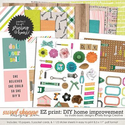 Easy Print: DIY: Home Improvement by Kelly Bangs Creative and Studio Basic