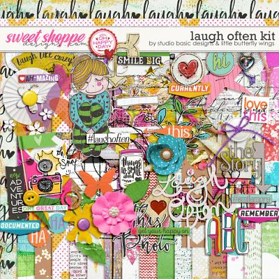 Laugh Often Kit by Studio Basic and Little Butterfly Wings