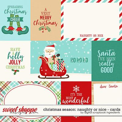 Christmas Season: Naughty or Nice | Cards by Digital Scrapbook Ingredients