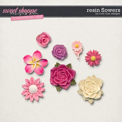 CU Resin Flowers by River Rose Designs