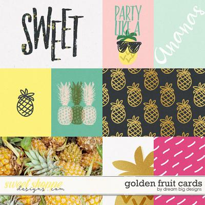 Golden Fruit Cards by Dream Big Designs
