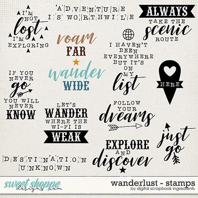 Wanderlust | Stamps by Digital Scrapbook Ingredients