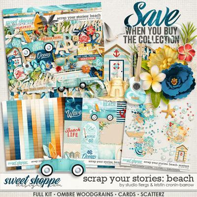 Scrap Your Stories: Beach- BUNDLE by Studio Flergs & Kristin Cronin-Barrow