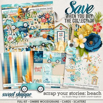 Scrap Your Stories: Beach- BUNDLE by Studio Flergs & Kristin Cronin-Barrow
