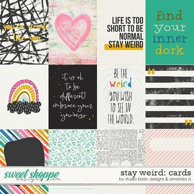 Stay Weird Cards by Amanda Yi & Studio Basic Designs