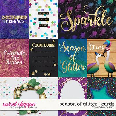 Season of glitter - cards by WendyP Designs