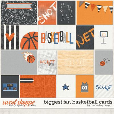 Biggest Fan Basketball Cards by Dream Big Designs