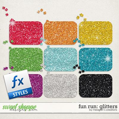 Fun Run Glitters by Meagan's Creations