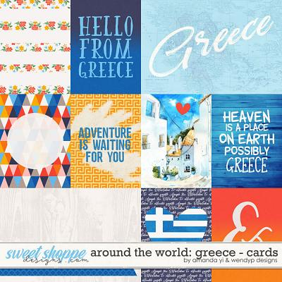 Around the world: Greece - Cards by Amanda Yi & WendyP Designs