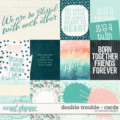 Double Trouble - cards by WendyP Designs