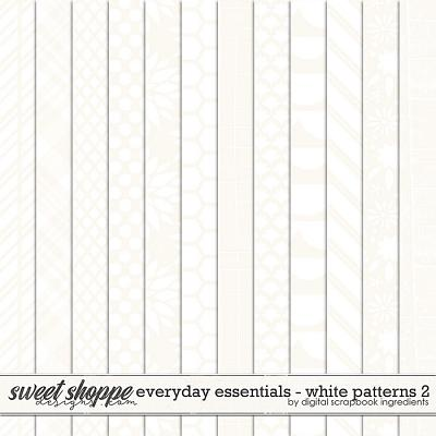 Everyday Essentials | White Patterns 2 by Digital Scrapbook Ingredients