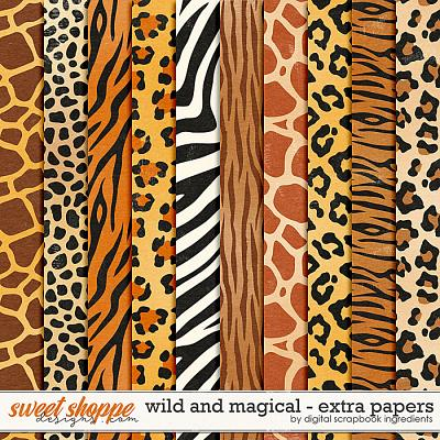 Wild And Magical | Extra Papers by Digital Scrapbook Ingredients