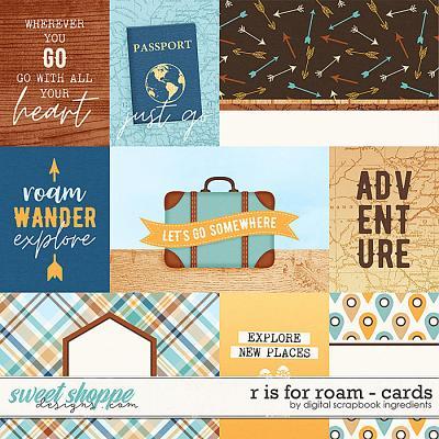 R is for Roam | Cards by Digital Scrapbook Ingredients