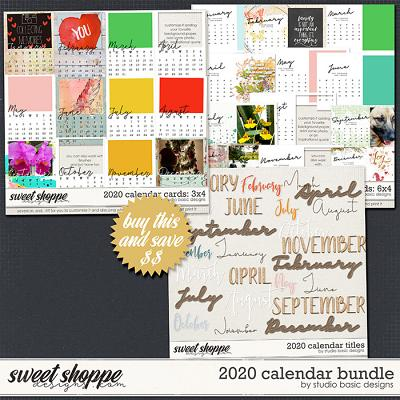 2020 Calendar Bundle by Studio Basic