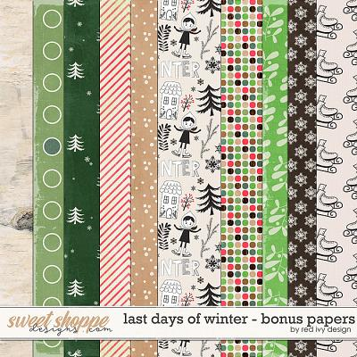 Last Days of Winter - Bonus Papers by Red Ivy Design