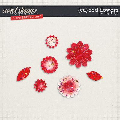 CU Red Flowers by Red Ivy Design