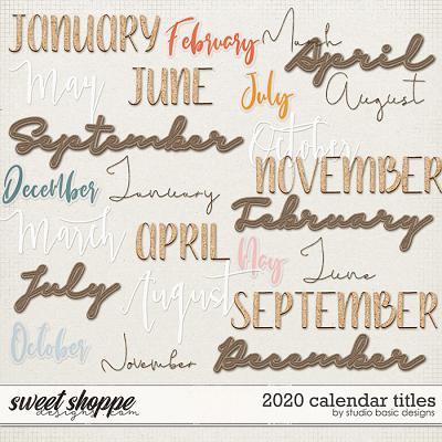 2020 Calendar Titles by Studio Basic