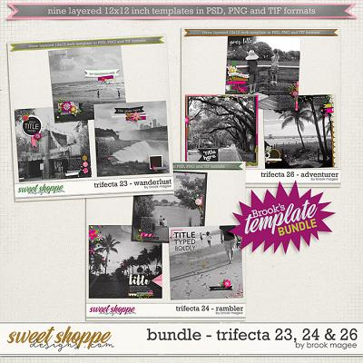 Brook's Templates - Bundle - Trifecta 23, 24 & 26 by Brook Magee