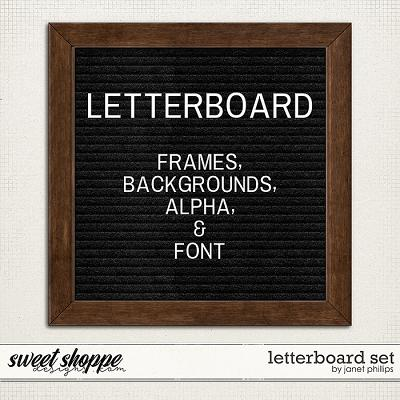 LETTERBOARD SET by Janet Phillips
