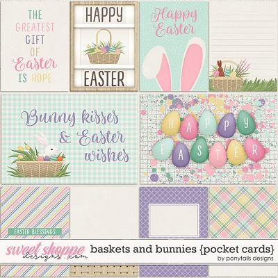 Baskets and Bunnies Pocket Cards by Ponytails