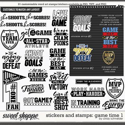 Cindy's Layered Stamps and Stickers: Game Time 1 by Cindy Schneider