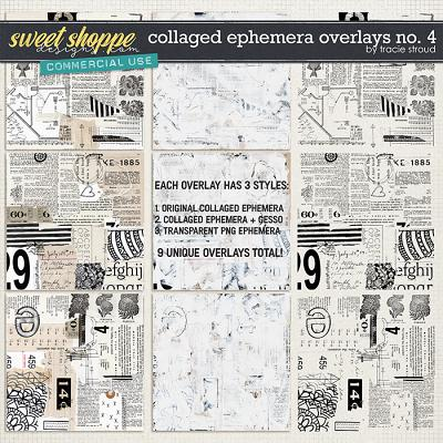 CU Collaged Ephemera Overlays no. 4 by Tracie Stroud