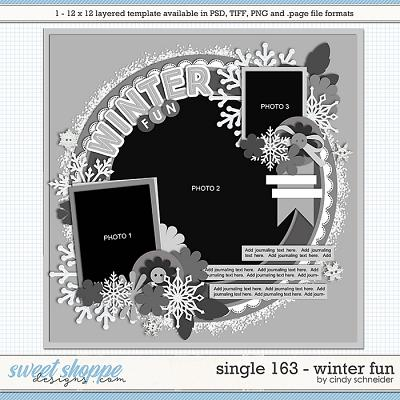 Cindy's Layered Templates - Single 163: Winter by Cindy Schneider