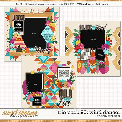 Cindy's Layered Templates - Trio Pack 90: Wind Dancer by Cindy Schneider