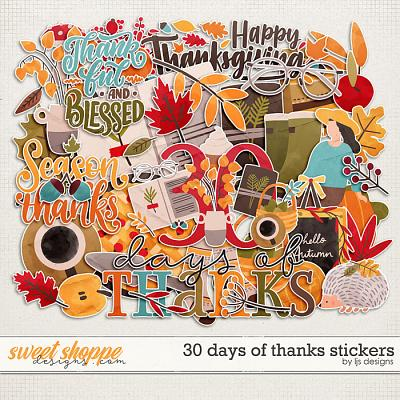 30 Days of Thanks Stickers by LJS Designs