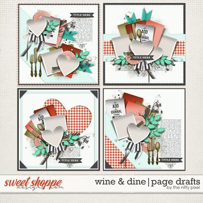 WINE & DINE PAGE DRAFTS | by The Nifty Pixel