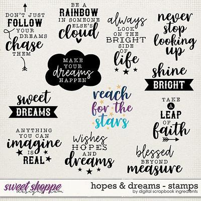 Hopes & Dreams | Stamps by Digital Scrapbook Ingredients