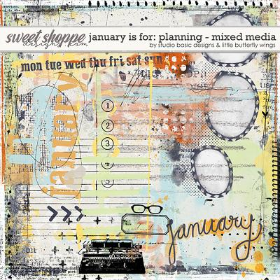 January Is For: Planning Mixed Media by Studio Basic and Little Butterfly