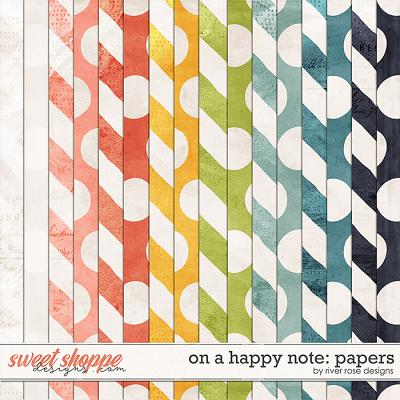 On a Happy Note: Papers by River Rose Designs