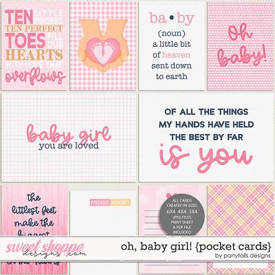 Oh Baby Girl! Pocket Cards by Ponytails
