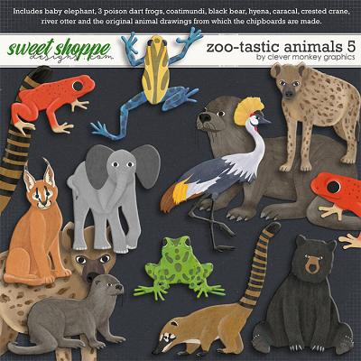 Zoo-tastic Animals 5 by Clever Monkey Graphics