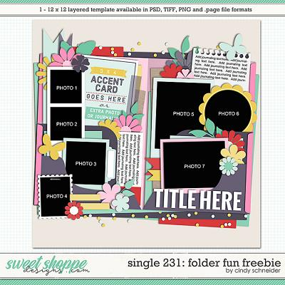 Cindy's Layered Templates - Single 231: Folder Fun Freebie by Cindy Schneider
