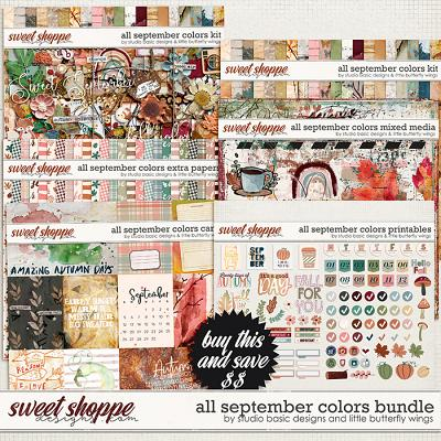 All September Colors Bundle by Studio Basic and Little Butterfly Wings