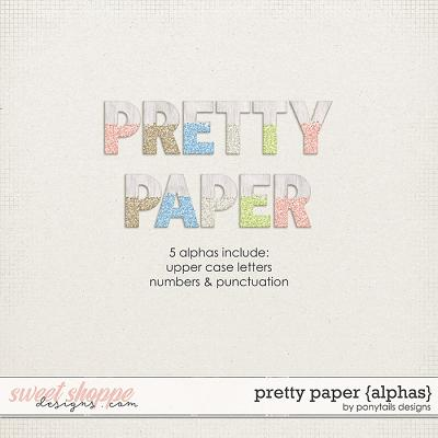 Pretty Paper Alphas by Ponytails