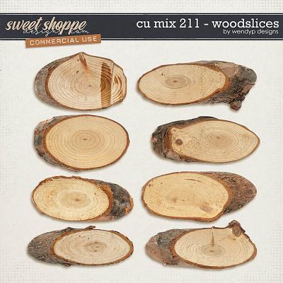 CU Mix 211 - wood slices by WendyP Designs