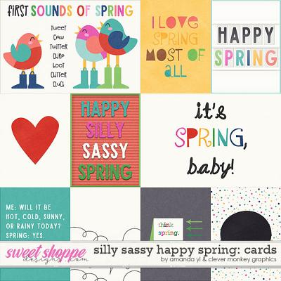 Silly Sassy Happy Spring Cards by Clever Monkey Graphics & Amanda Yi