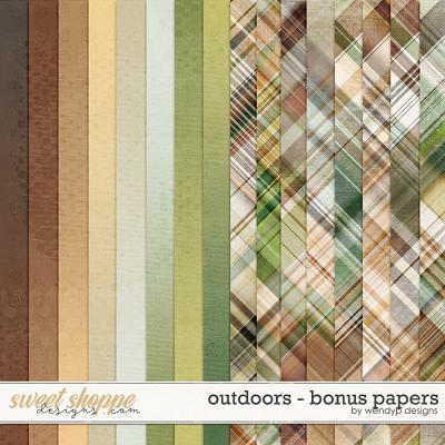 Outdoors - bonus papers by WendyP Designs